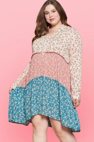 *Preorder* Oddi New Day New Me Floral Babydoll Dress