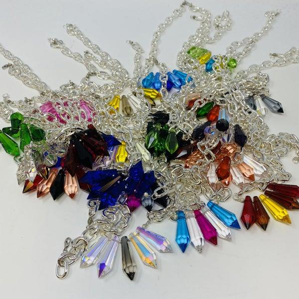 Crystallized Necktizes Small Silver Kensington Necklace