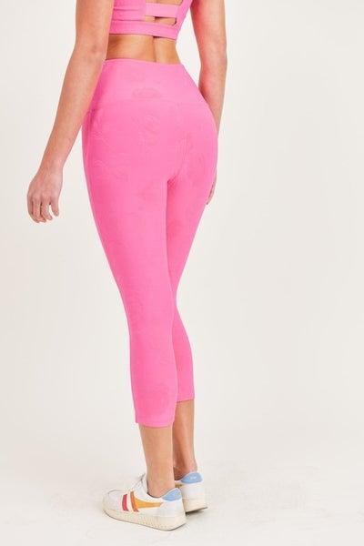 Rose Textured TACTEL Capri Leggings
