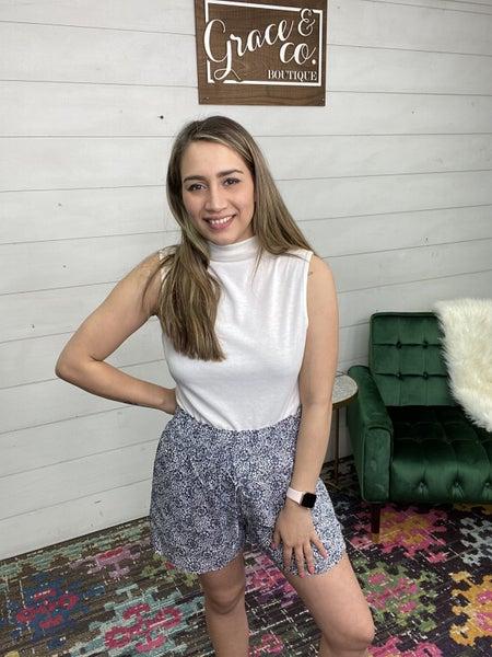Cotton Bleu Carra Shorts