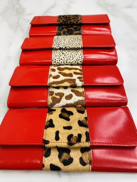 Ruby Bria Leather And Hair On Hide Wallet