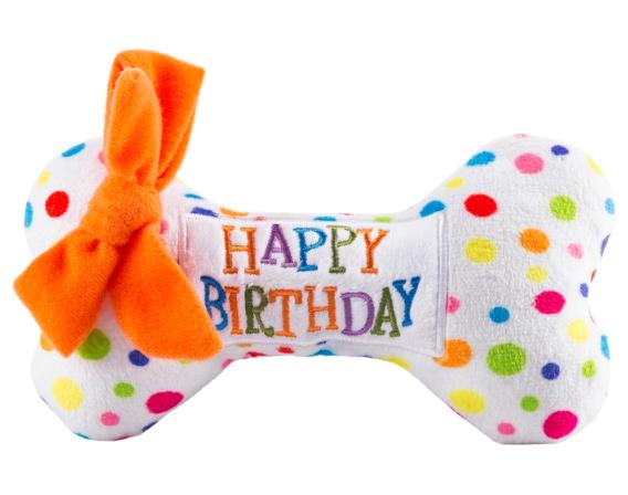 Large Birthday Bone Dog Toy