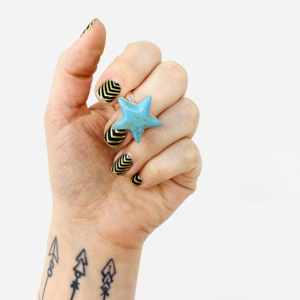 Sterling Star Power Turquoise Ring