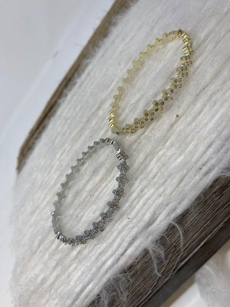 VCA Quatrafoil CZ Bangle Bracelet