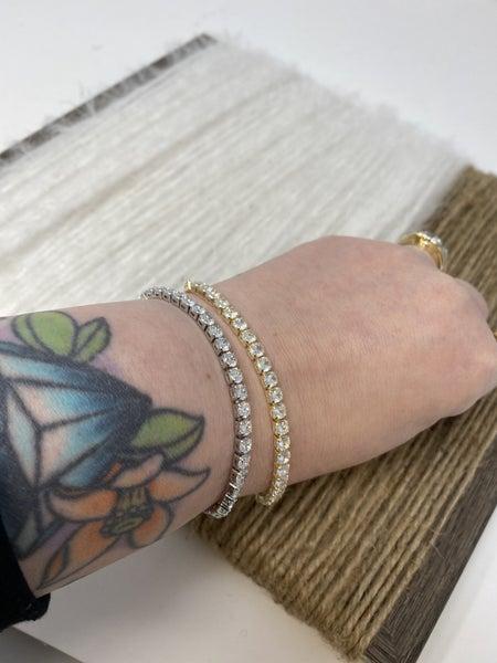 CZ Tennis Style Bracelet