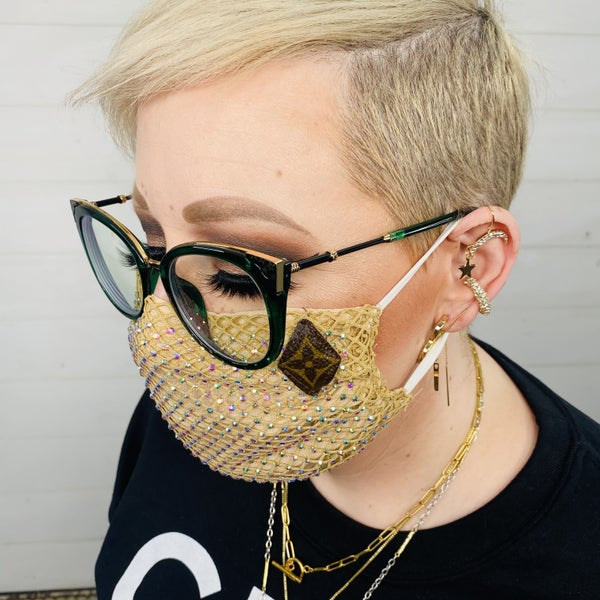 Upscaled Upcycled Bling Face Covering