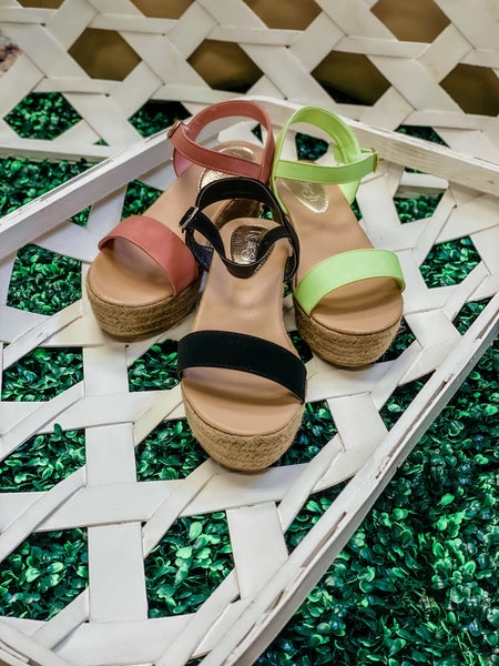 Buckle Up Buttercup Wedges