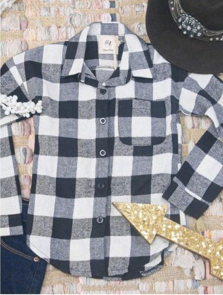 Classic Plaid Flannel Girls Buttondown