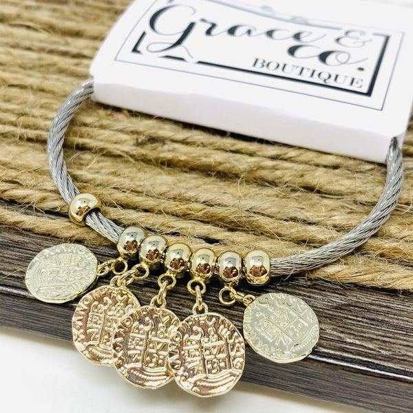 Multi Coin Bracelet