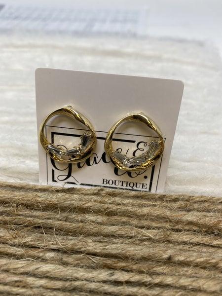 Ring of Light Crystal Stud Earrings