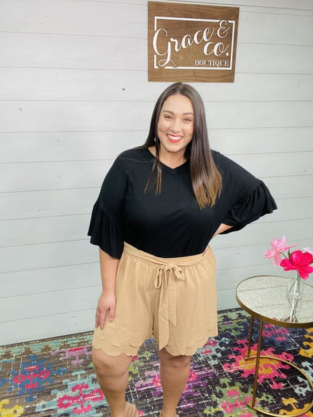 Front Tie Flow Shorts by Oddi