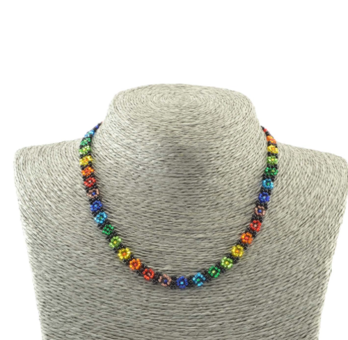 Rainbow Flower Necklace