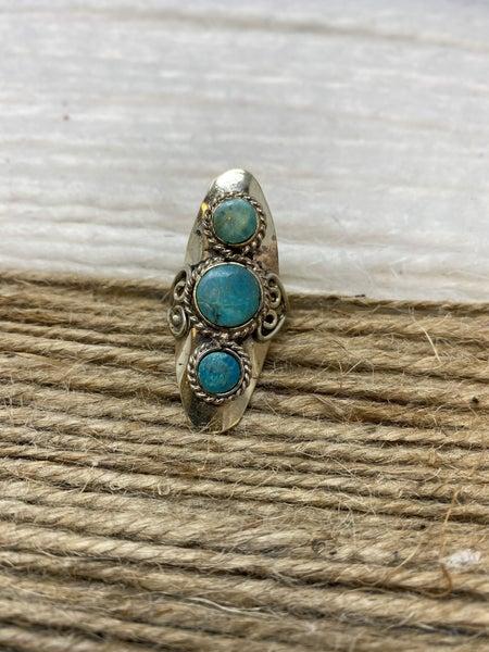 Turquoise Fantasy Shield Ring