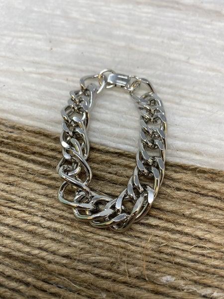Penelope Silver Chain Bracelet