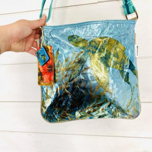 Crush Turtle Foil Print Bag