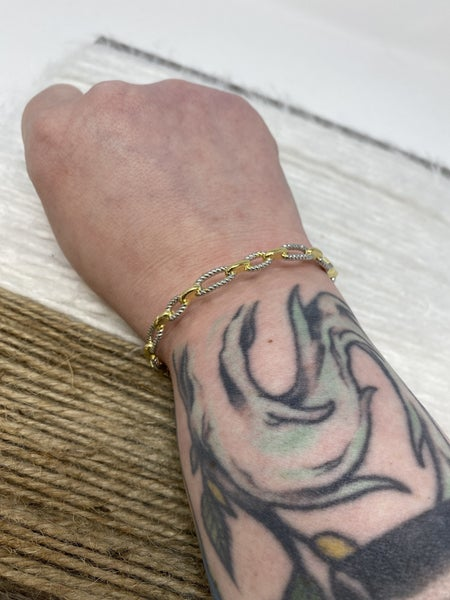Linked on Love Cable Bracelet