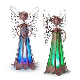 Solar Lighted Metal Garden Fairy