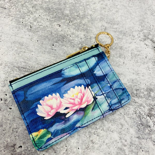 Water Lily Keychain Wallet