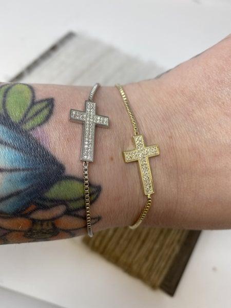 Crystal Cross CZ Bracelet