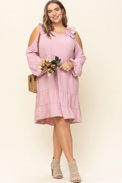 *Preorder* Oddi Summer Blossom Cold Shoulder Dress