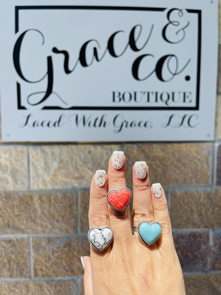 Grateful Heart Sterling Silver Ring