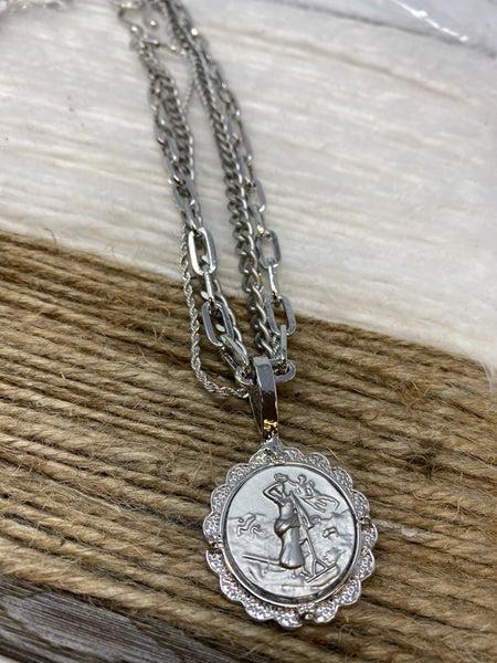 Melania Clara The Trinidad French layering Necklace Silver