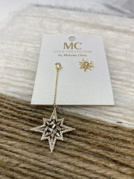 Melania Clara North Star Earrings