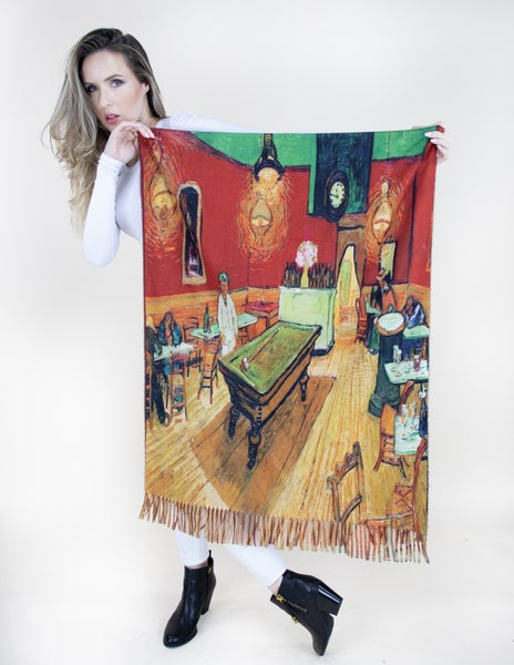 The Night Cafe Van Gogh Painted Scarf