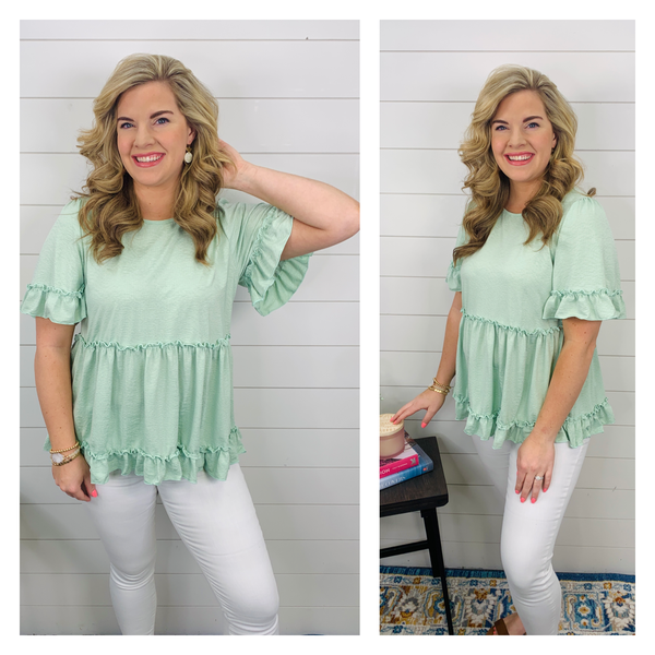 Effortless Grace Top - Sea Green