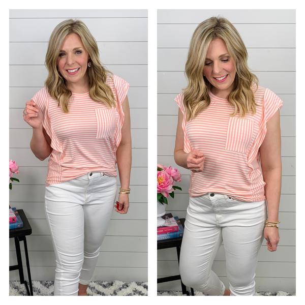 Sydney Striped Top - Pink