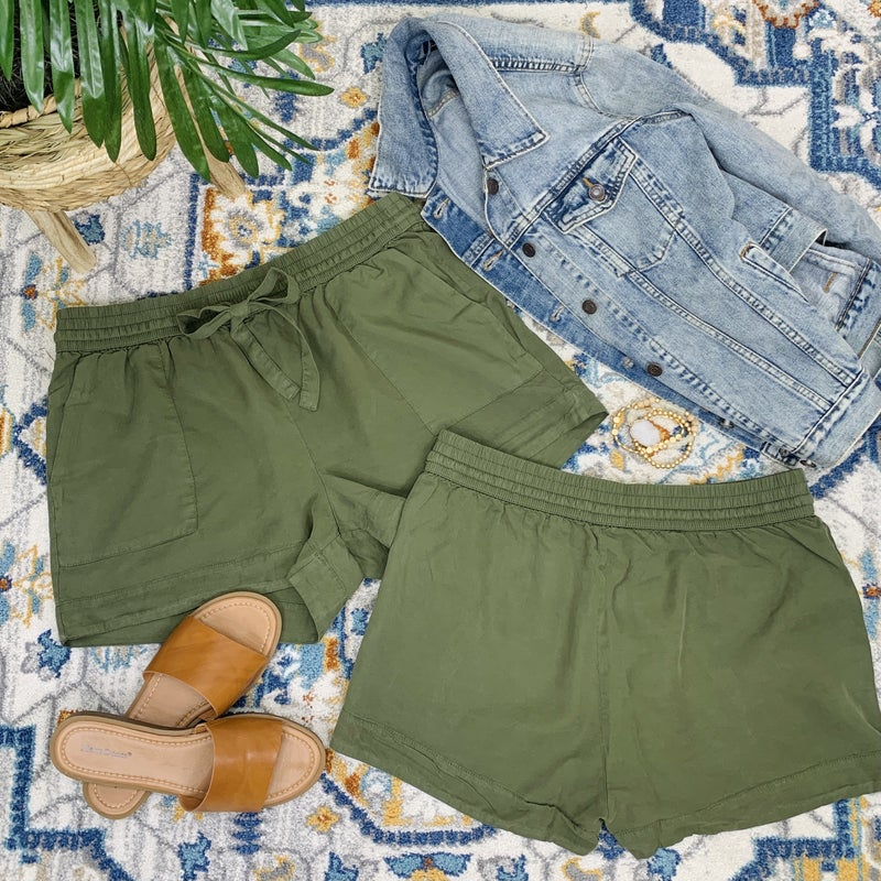 Anything Goes Green Shorts