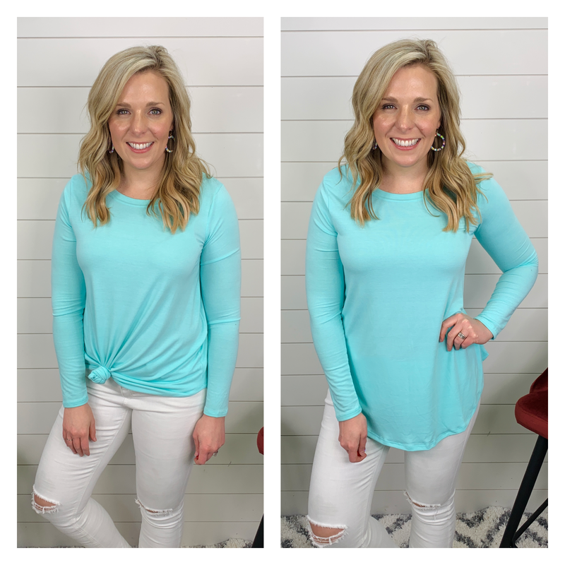 Jenny Long Sleeved Top - Ice Blue *Final Sale*