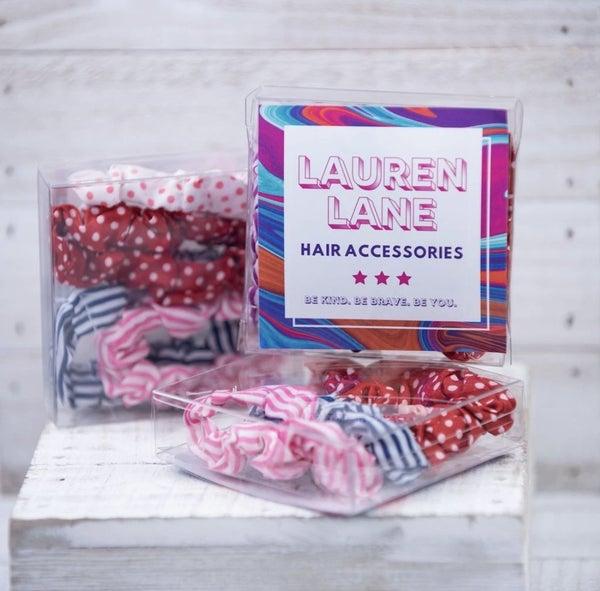 Pattern Party Hair Scrunchie Set