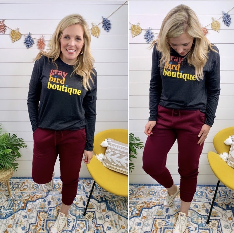 Right This Way Jogger Sweatpants - Burgundy