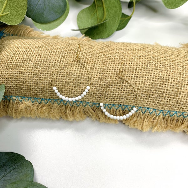 Garden Grove Earrings - White