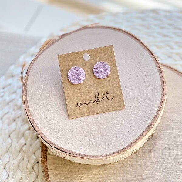 Chloe Circle Stud Earrings