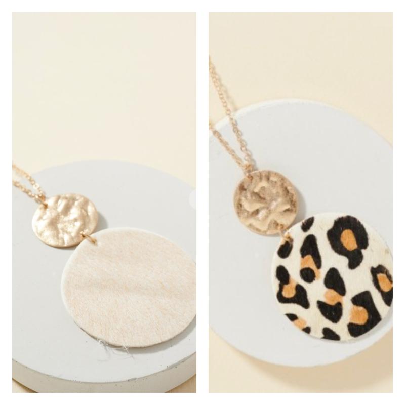 Audrey Leather Pendant Necklace