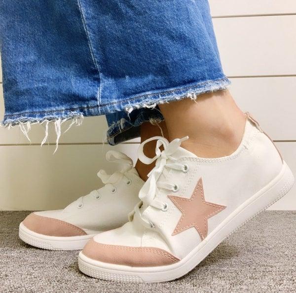 Make Me Blush Tennis Shoes *Final Sale*
