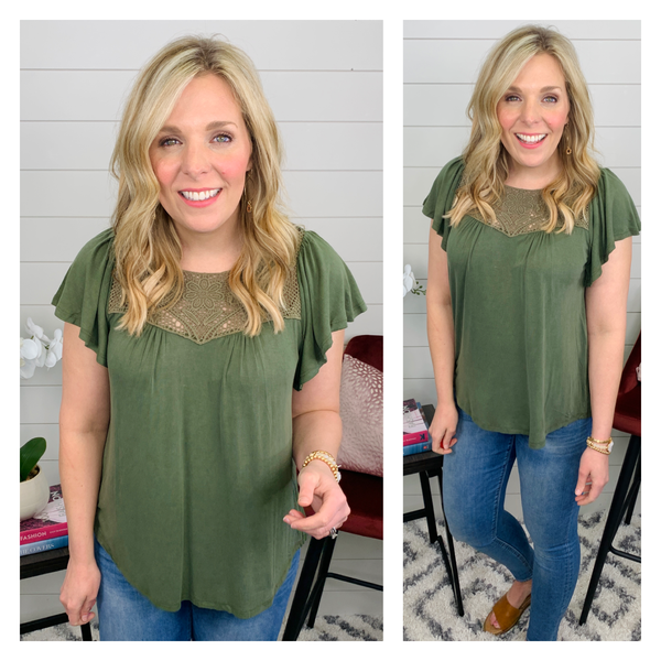 Olive You Forever Top *Final Sale*