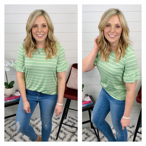 Simply Spring Green Top