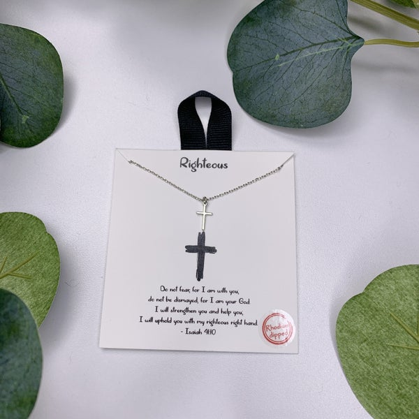 Righteous Cross Necklace - Silver