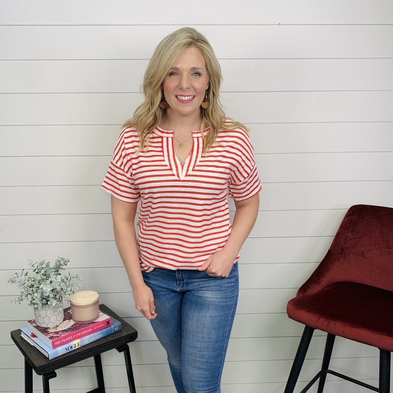 Anchors Away Top - Red