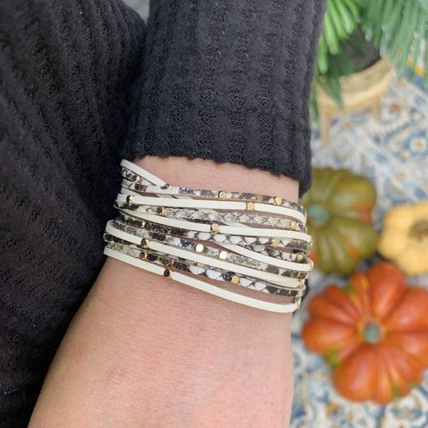 Love Struck Snakeskin Bracelet