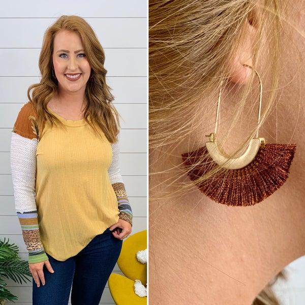 Nashville Tassel Earrings - Brown