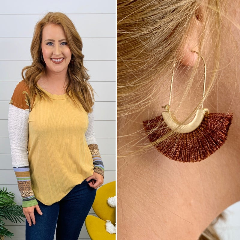 Nashville Tassel Earrings - Brown