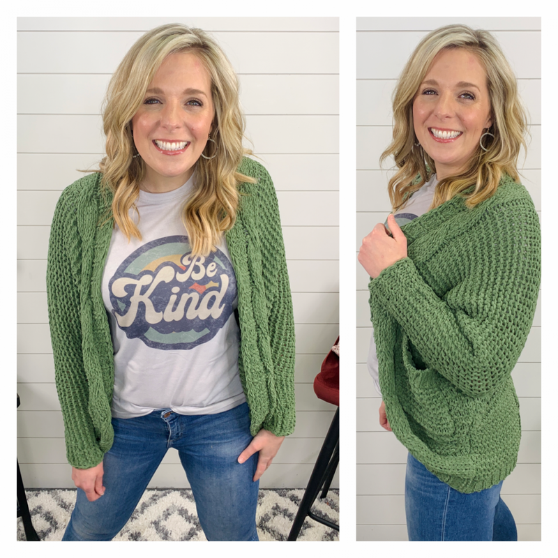 Green Lily Cardigan
