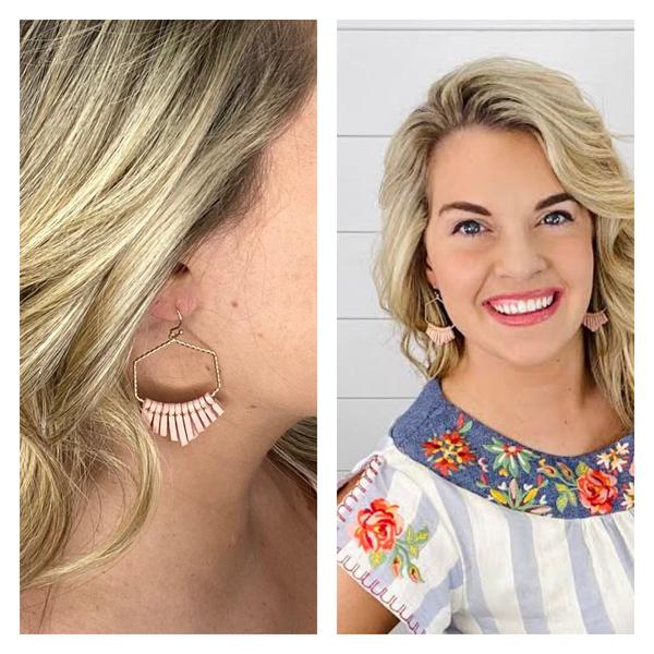 Happy Hexagon Earrings