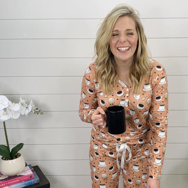 Coffee and Cream Pajama Set