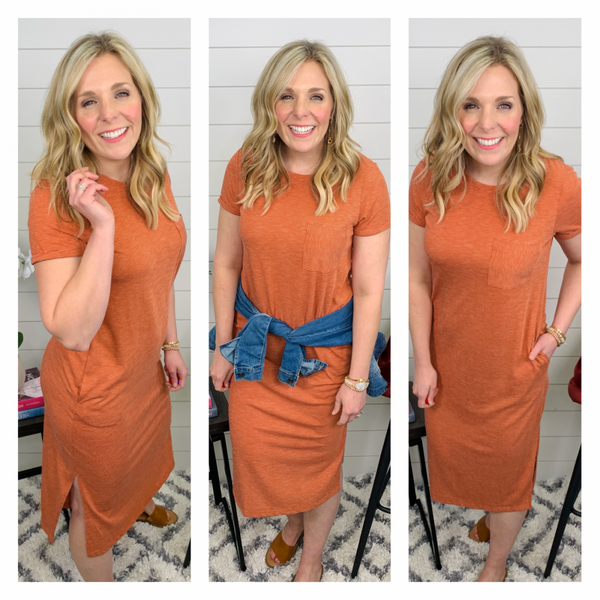 Persimmon Striped Dress