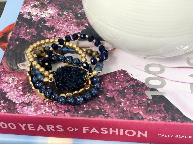 Natasha Navy Bracelet Set